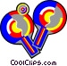 ping pong rackets Vector Clipart picture