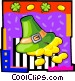 leprechaun's hat with gold Vector Clipart illustration