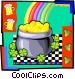 pot of gold at end of rainbow Vector Clip Art picture