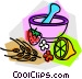 homemade medicine Vector Clipart image