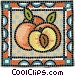 Sliced peaches Vector Clipart picture