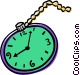 pocket watch Vector Clipart image
