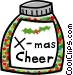 bottle of Christmas cheer Vector Clip Art picture
