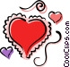 Valentine hearts Vector Clip Art picture