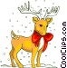 Reindeer in the snow Vector Clipart picture