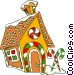 Gingerbread house Vector Clipart graphic