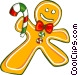 Gingerbread man cookies Vector Clipart picture