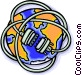World wrapped up in wires Vector Clip Art picture