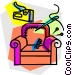 re upholster Vector Clipart graphic