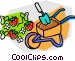 wheelbarrow Vector Clipart illustration