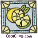 Sliced lemon Vector Clipart graphic