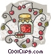 jar of cherry jam Vector Clip Art graphic