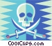 skull and swords Vector Clipart graphic