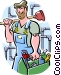 plumber Vector Clipart graphic