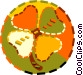 four leaf clover, shamrock Vector Clip Art image