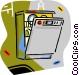 dishwashers Vector Clip Art image