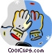 winter gloves Vector Clip Art picture