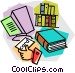 checking out a book from the Vector Clip Art image
