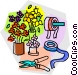 flower shop supplies Vector Clipart graphic