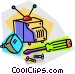 television repair Vector Clip Art picture