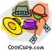 hats with sales tags Vector Clip Art picture