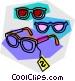 glasses on sale Vector Clip Art picture