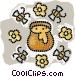 honey pot Vector Clip Art graphic