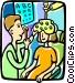 eye doctors Vector Clipart image