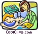 acupuncture Vector Clipart graphic