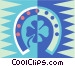 horseshoe and four leaf clover Vector Clipart image