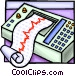 ECG printout Vector Clipart illustration