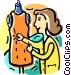 Seamstress Vector Clipart picture