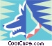 dog symbol Vector Clipart graphic