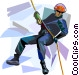 Mountain climber Vector Clip Art graphic
