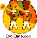 trumpet players Vector Clip Art graphic
