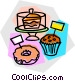 baked goods for sale Vector Clipart illustration