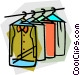 clothes at the dry cleaners Vector Clipart graphic