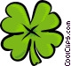 four leafed clover Vector Clip Art graphic