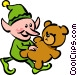 Santa's elf Vector Clip Art picture