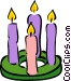 candles Vector Clipart picture