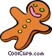 gingerbread cookie Vector Clipart graphic