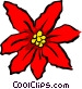poinsettias Vector Clipart illustration