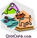 dog grooming Vector Clipart picture