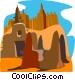 desert buildings Vector Clipart picture