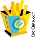 French fries Vector Clipart image