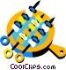 shish kebab Vector Clipart image