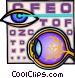 eye examinations Vector Clip Art image