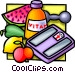 health foods and vitamins Vector Clipart graphic