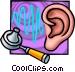 ear examination Vector Clip Art image