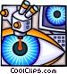 laser eye surgery Vector Clip Art picture